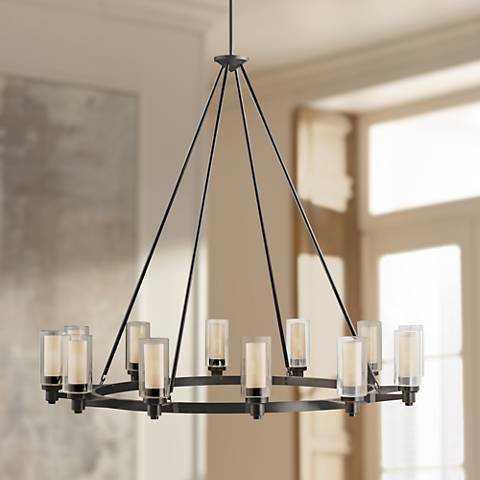 "Circolo Collection Olde Bronze 44 1/2"" Wide Chandelier - Lamps Plus"