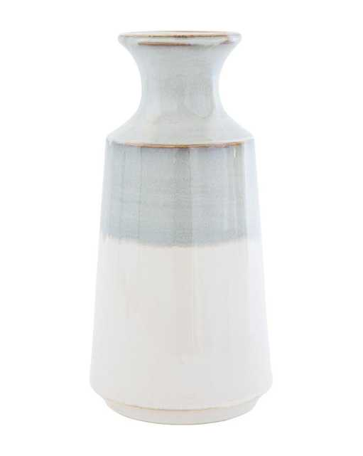 GRAY DIPPED VASE - LARGE - McGee & Co.