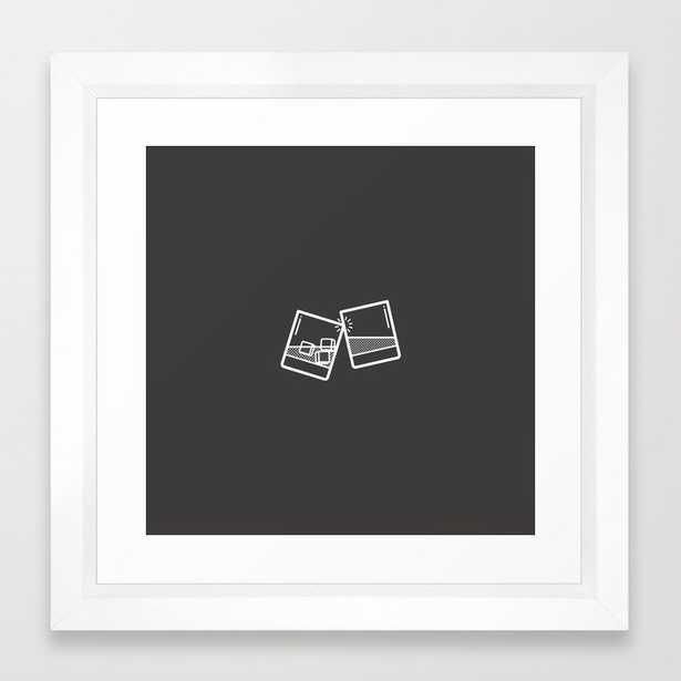 Cheers Framed Art Print, 12x12, white vector frame - Society6