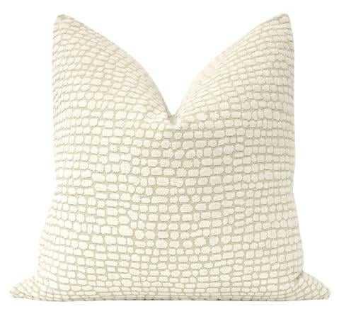 "Ocelot Chenille Pillow Cover, 20"" x 20"" - Little Design Company"
