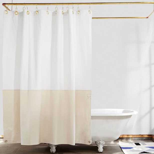 Quiet Town Home Shower Curtain, Orient, Sand - West Elm