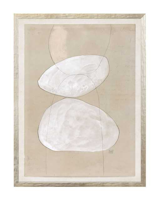 """BEIGE ABSTRACT 11 Framed Art - 25"""" W x 33"""" H - McGee & Co."""