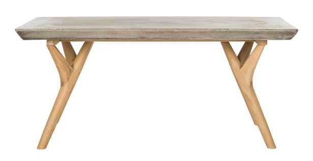 Pacey Indoor/outdoor Modern Concrete 16.54-inch H Coffee Table - Arlo Home