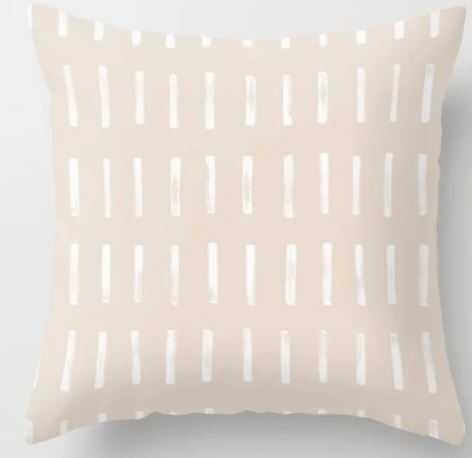 Dash Blush Throw Pillow, 18x18 with insert - Society6