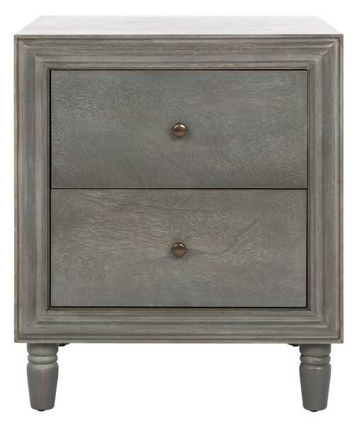 Blaise Nightstand With Storage Drawers - French Grey - Arlo Home - Arlo Home