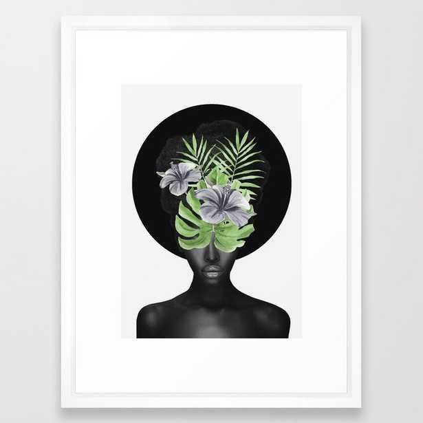 Tropical Girl Framed Art Print - Society6