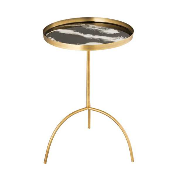 Bailey Black/White Accent Table - Maren Home