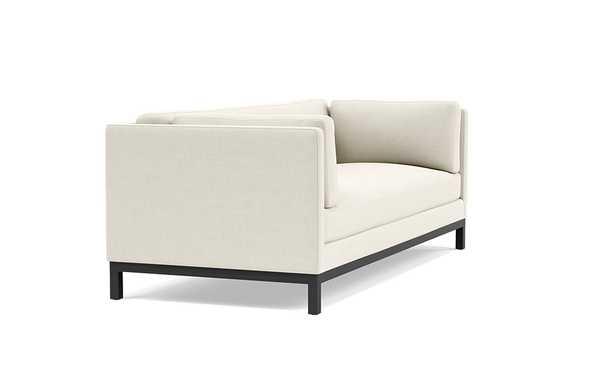 Jasper Sofa with White Chalk Fabric and Matte Black legs - Interior Define