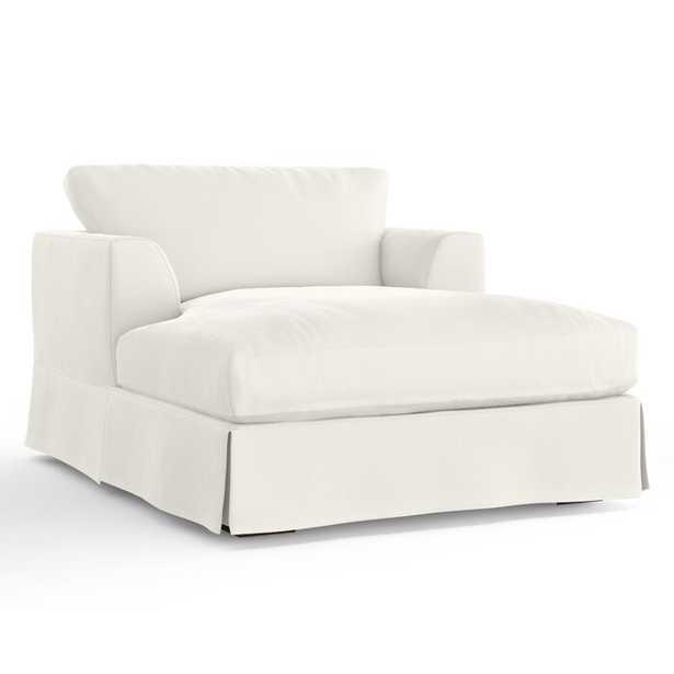 Dores Chaise Lounge- Classic Bleach White - Wayfair