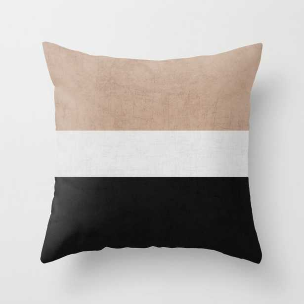 classic - natural, cream and black Outdoor Throw Pillow - Society6
