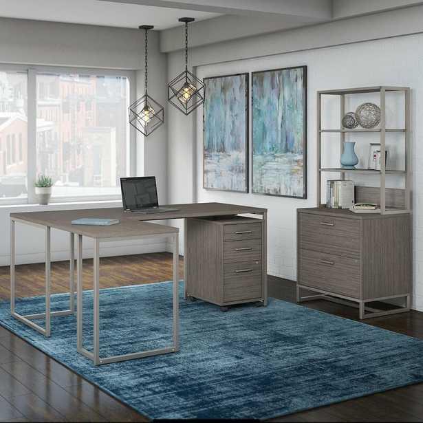 Deron Desk, Bookcase and Filing Cabinet Set - Wayfair