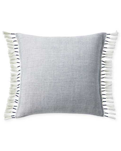 """Topanga 24"""" SQ Pillow Cover - Blue - Insert sold separately - Serena and Lily"""