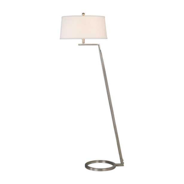 Ordino Modern Nickel Floor Lamp - Hudsonhill Foundry