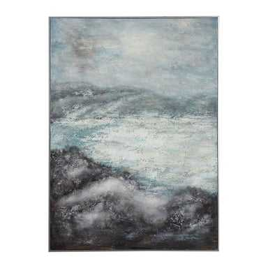 Azure Altitudes Hand Painted Canvas - Hudsonhill Foundry