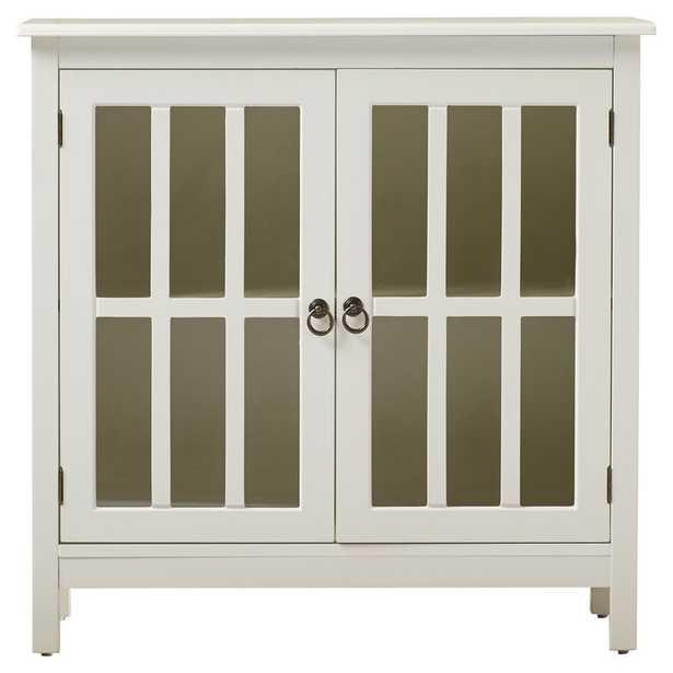 Purdue with Wooden Top 2 Door Accent Cabinet - Wayfair