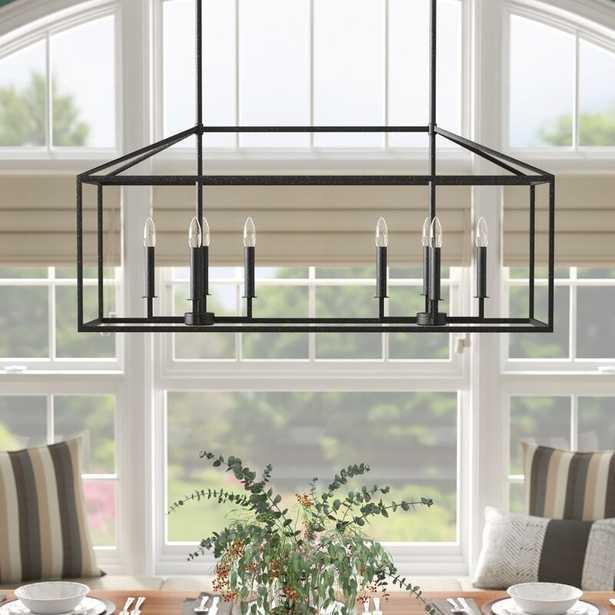 Odie 8-Light Kitchen Island Square/Rectangle Pendant, Blacksmith with LED Light Bulbs - Wayfair