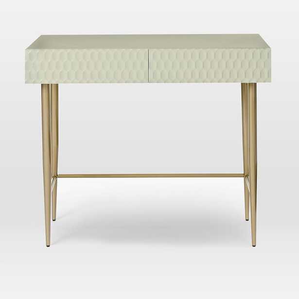 Audrey Mini Desk, Parchment - West Elm