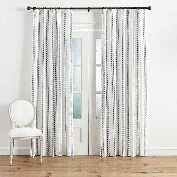 Hollis Ditsy Stripe Drapery Panel- 96 inch - Ballard Designs