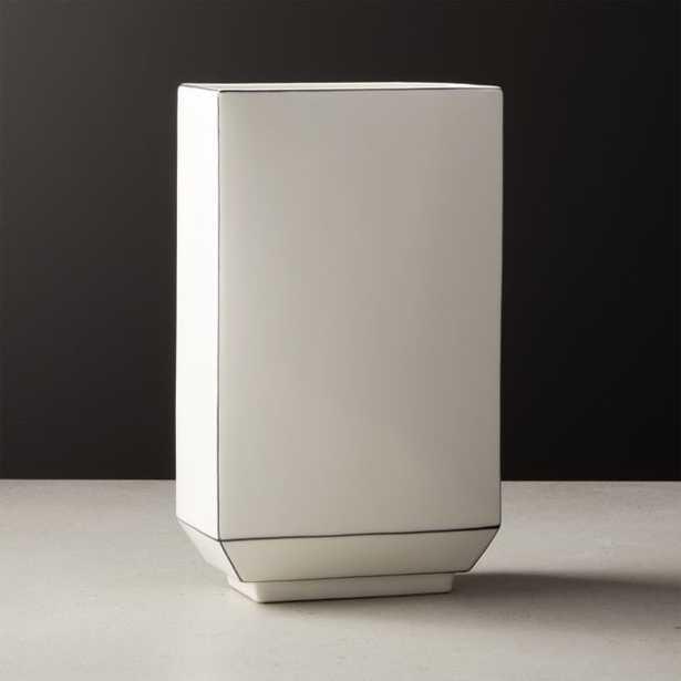 Margeaux White Ceramic Vase - CB2