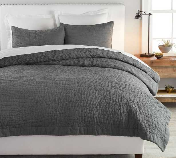 Belgian Flax Linen Handcrafted Quilt, King/Cal King - Pottery Barn