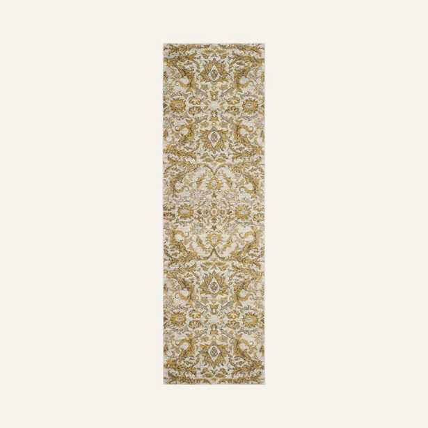 Overstreet Damask Ivory/Gold Area Rug - Wayfair