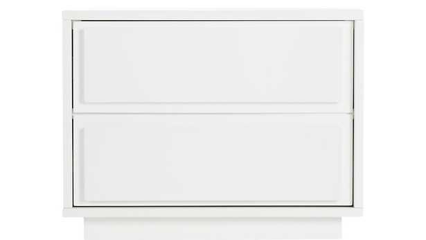 gallery white 2-drawer nightstand - CB2