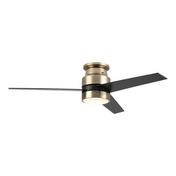 """52"""" Betzi 3 - Blade LED Smart Propeller Ceiling Fan with Wall Control and Light Kit Included - Wayfair"""