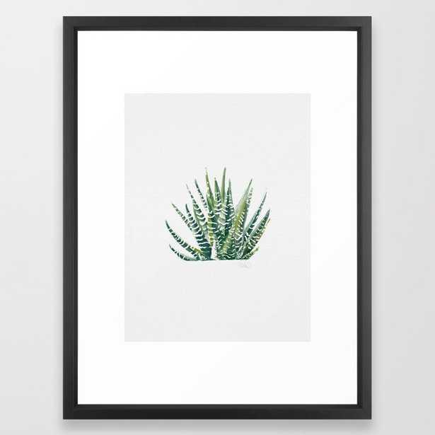 "Zebra Cactus Framed Art Print - Vector Black - 20"" x 26"" - Society6"