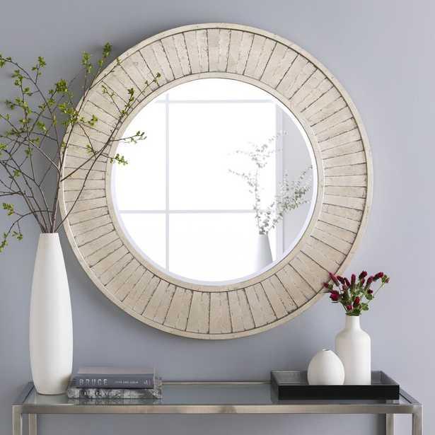 Silver Round Beveled Accent Wall Mirror - Wayfair