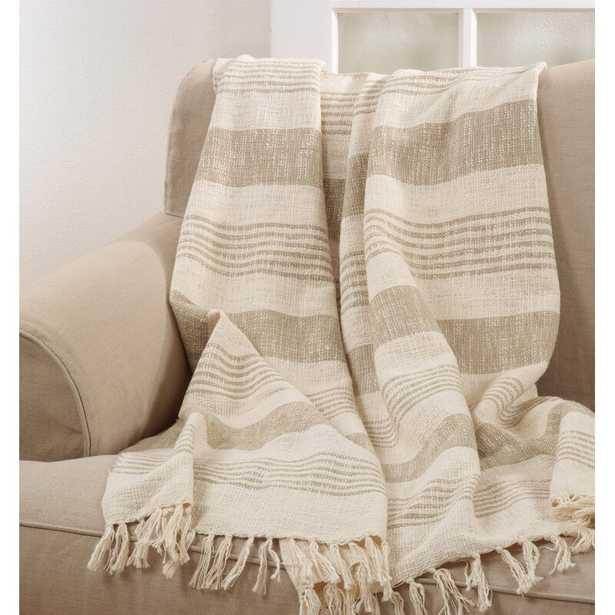 Caulkins Tassel Cotton Throw - Wayfair