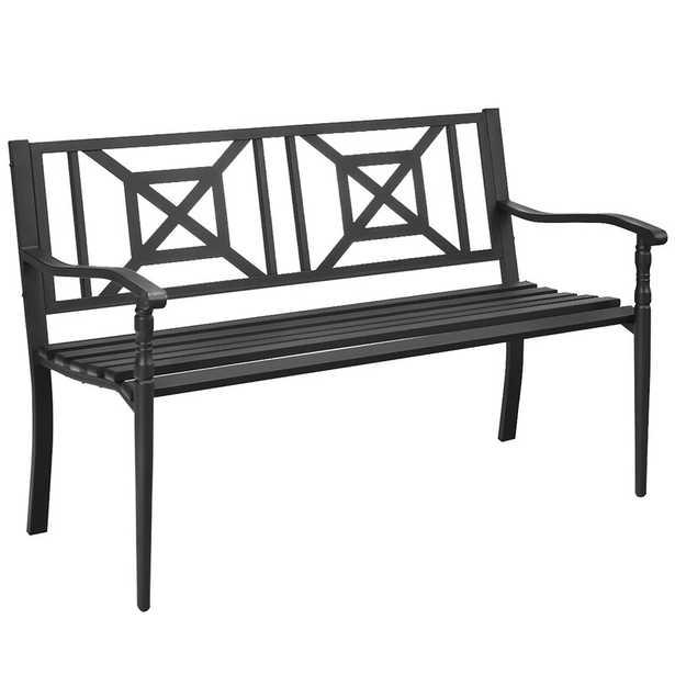 Aason Steel Garden Bench - Wayfair