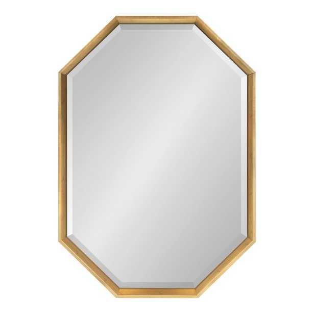 Gatsby Elongated Octagon Modern Beveled Accent Mirror in Gold - AllModern