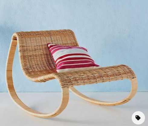Rattan Rocking Chair - Anthropologie