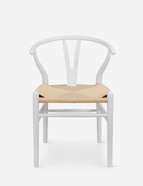 Cylia Dining Chair, Matte White (set of 2) - Lulu and Georgia