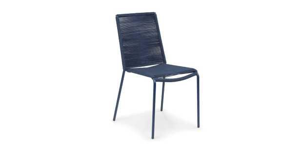 Zina Heathered Gray Dining Chair - Indigo Blue - Article