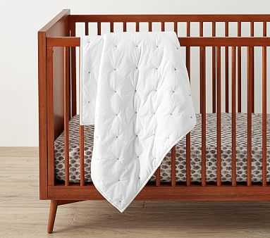 west elm x pbk Washed Cotton Toddler Quilt, White - Pottery Barn Kids