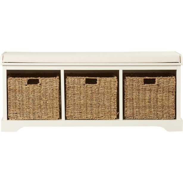 Santa Cruz Upholstered Cubby Storage Bench - Wayfair
