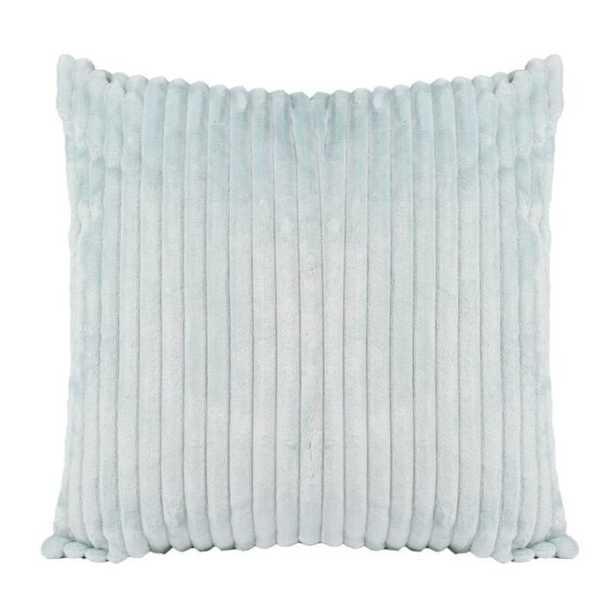 "Tressie Faux Fur Throw Pillow / Spa / 20"" x 20"" / Poly Insert - Wayfair"