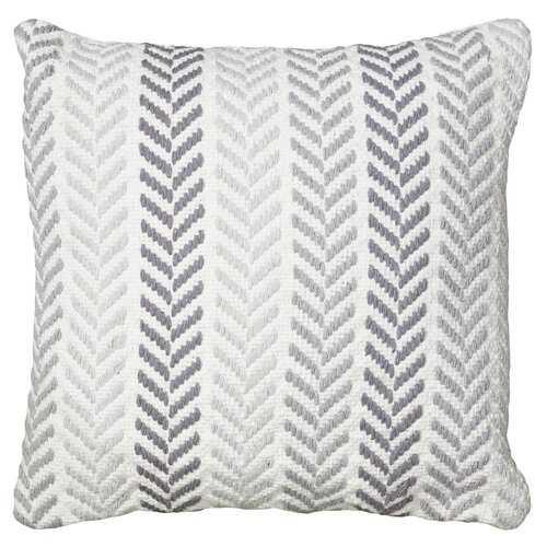 Galilea Chevron Cotton Throw Pillow - Birch Lane