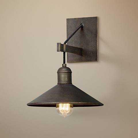 "McCoy 12 1/2"" High Vintage Bronze Wall Sconce - Lamps Plus"