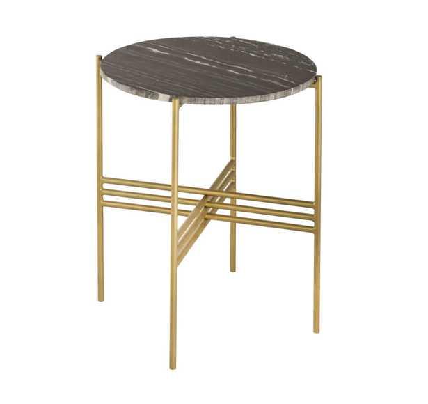 Jenna Black Marble Side Table - Maren Home