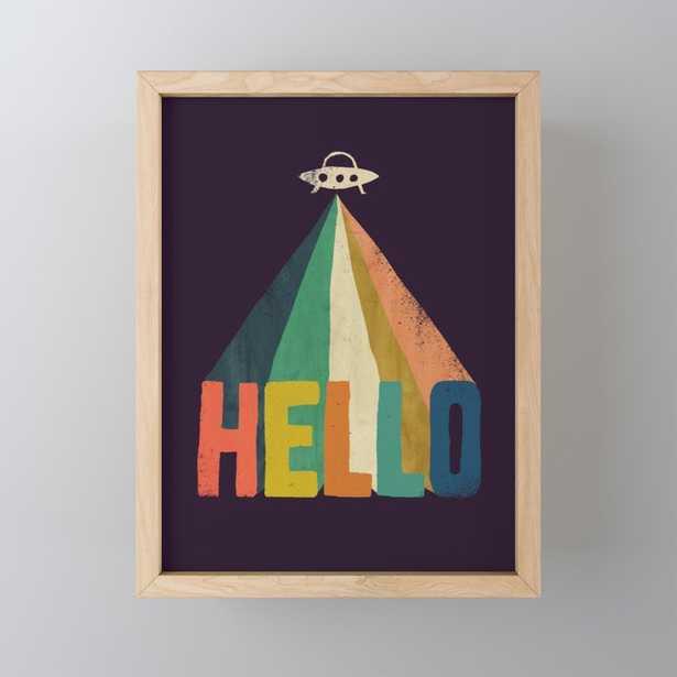 Hello I come in peace Framed Mini Art - Society6