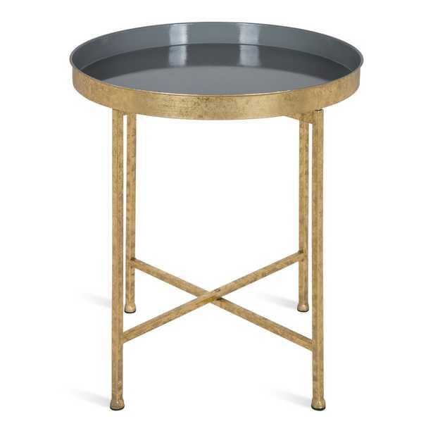 Marshfield Tray Top Cross Legs End Table - Wayfair