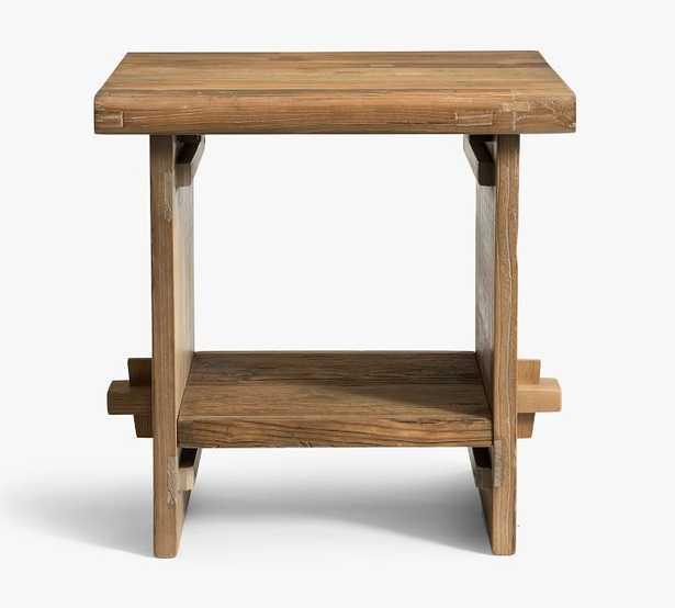 "Easton 24"" Reclaimed Wood End Table - Pottery Barn"