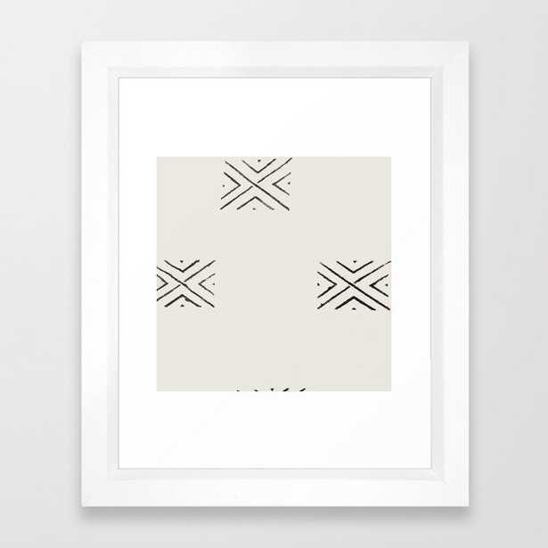 big X Framed Art Print - Society6