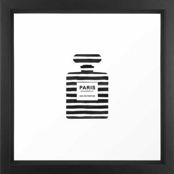 Perfume, Bottle, Fashion, Paris, Modern art, Minimal, Scandinavian, Wall art Print Framed Art Print - Society6