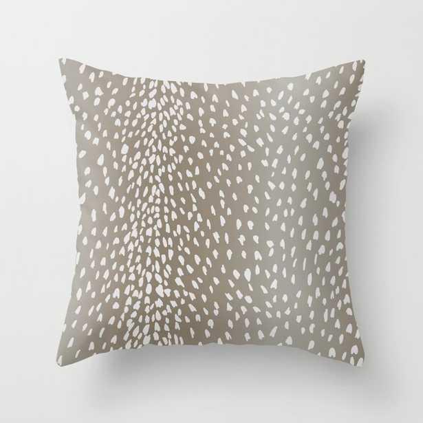 Antelope Fawn Print Throw Pillow - Society6