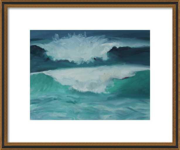 California Coast, Waves by Marie Freudenberger for Artfully Walls - Artfully Walls