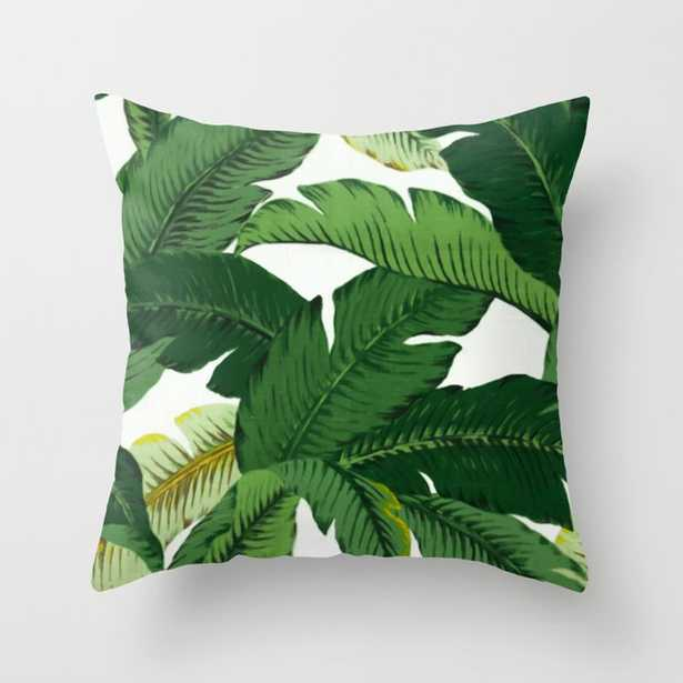 banana leaves Throw Pillow by Huntleigh - Society6