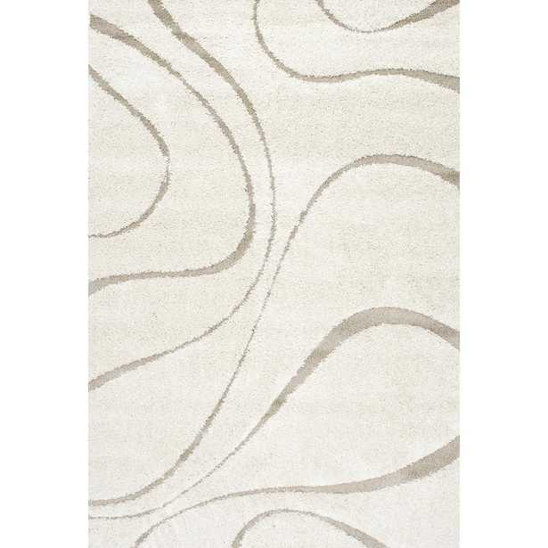 Carolyn Contemporary Curves Shag Cream 10 ft. x 14 ft. Area Rug - Home Depot